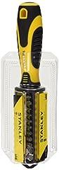 Idea Regalo - Stanley STHT0-70885 Giravite Porta Inserti Multibit, 34 Pezzi, Giallo/Nero