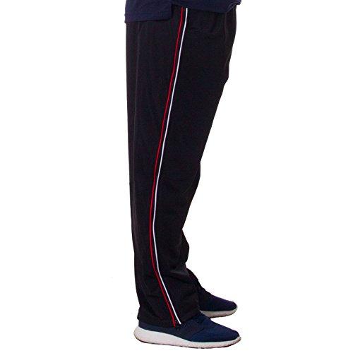 Henry Terre, teilbare lange Freizeithose 2 Wege Reißverschluss von Hüfte bis Knöchel, Basketball vielseitig einsetzbar, Farbe:Schwarz;Größe:L