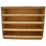 Multitanks Weinschrank, Holz, naturfarben, Länge 120 cm, 4 Etagen