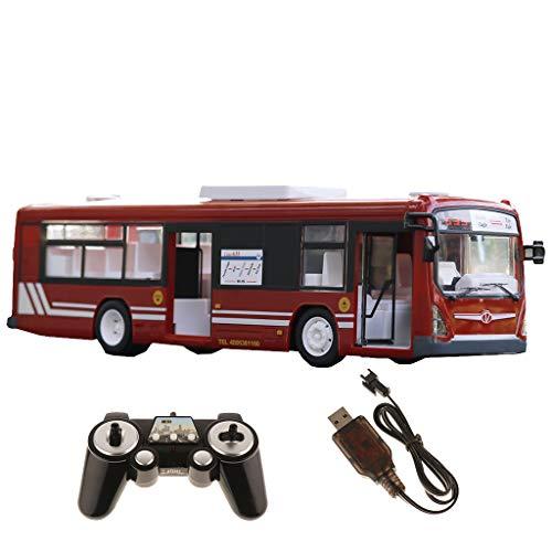 FLAMEER 1:12 RC Ferngesteuertes Linienbus Bus Spielzeugauto mit Licht und Sounds, Kinder