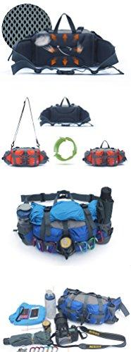 Outdoor peak Unisex Nylon Wasserabweisende Gürteltasche Reiserucksack Messenger Bag Reiserucksack Bauchtasche Sporttasche Fahrrad Bergsteigen Trekking plus Schultergurt Blau2