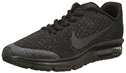 Nike Air Max Sequent 2 Gs, Girls' Gymnastics Shoes, Black (Blackblackanthracite), 5.5 Uk (38.5 Eu)