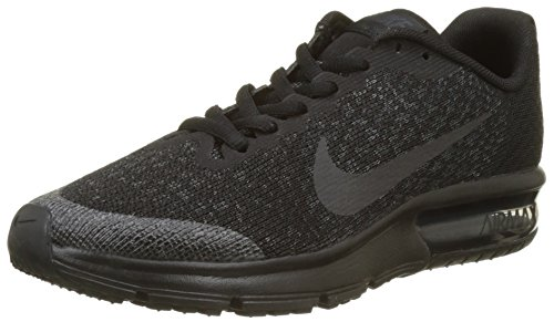 NIKE Herren Air Max Sequent 2 (GS) Sneakers, Schwarz Black/Anthracite 001, 39 EU