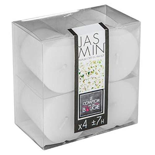 Générique 4 Bougies Blanches Parfum Jasmin 4,6 CM