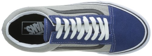 Vans U Old Skool, Chaussures Basses Mixte Adulte Bleu (Suede/Canvas)