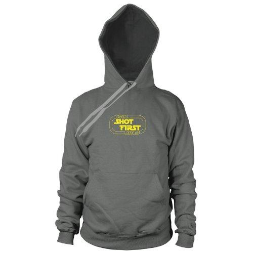 ren Hooded Sweater, Größe: M, Farbe: grau (Han Solo Kostüm Imperium Schlägt Zurück)