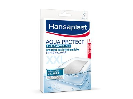 Hansaplast med Aqua Protect Pflaster XXL 8x10 cm, 5 St