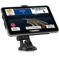 FLOUREON GPS Voiture Rechargeable avec Écran Tactile 7 Pouces Système de Navigation Automatique Cartographie Plan Européen Angleterre Gratuit Multi-Langues 8Go Intégré Support Carte TF