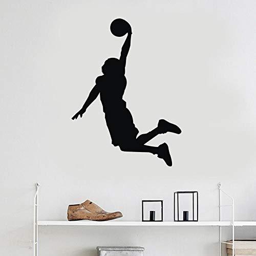 KXCTQ Wandaufkleber Wohnzimmer Schlafzimmer kinderzimmer Mode Dekoration Aufkleber grün schwarz Sportler unternehmen geschnitzt 43 * 58 cm