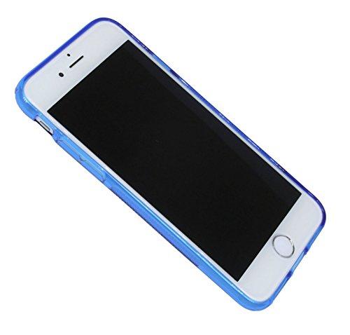 Iphone 7 // S-Line TPU SchutzHülle Silikon Hülle Silikonschale Case Cover Zubehör Bumper in Blau @ Energmix Blau