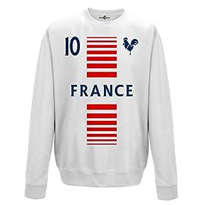 crewneck Pullover Sweatshirt manner National Sport France Frankreich 10 fussball Sport Europa Gallo 2 KiarenzaFD Streetwear
