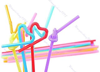 Amit Marketing Artistic Straw Pack Of 50pc & Bend Straw Pack Of 100pc