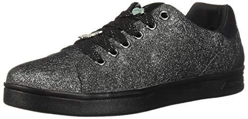 Geox Mädchen J DJROCK Girl A Slip On Sneaker, Silber (Dk Silver C1009), 37 EU