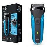 Braun Series 3310s Wet & Dry Rasoir Électrique Rechargeable pour Homme, Bleu