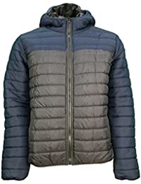 Mens Soulstar Savvy Hooded Padded Jacket Quilted Winter Hoody Coat