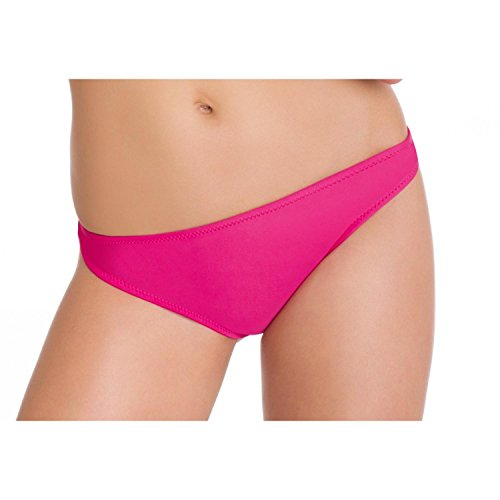 Aquarti Bikini Hose Damen Badepants Slip Badeslip Panty Unifarben Gemustert, Farbe: Pink, Größe: 44