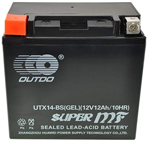 Motorradbatterie YTX14-BS-GEL GEL BATTERIE