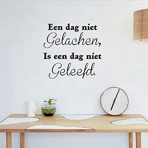 Zitat Vinyl Wall Decal Sticker Nederlands Home Wohnzimmer Kinderzimmer Wand Kunst Dekor 40x38 cm