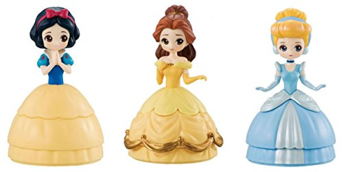Disney Komplett-Set 3 Figure 12cm Princess Schneewittchen Aschenputtel Belle Heroine DOLL - Original BANDAI Japan - Cinderella Snow-White Belle