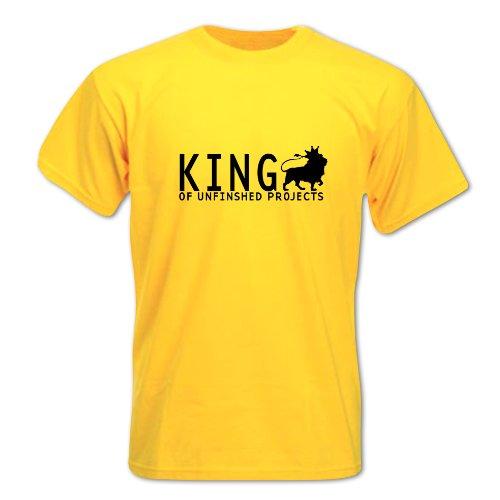 Herren Vatertag KÖNIG DER UNFERTIGEN PROJEKTE T-Shirt Gelb