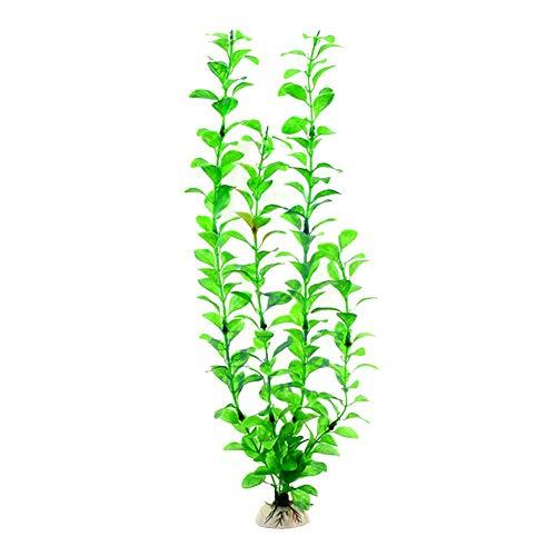 Künstliche Aquarium-Gras Kunststoffpflanzen für Aquarien, Kunstgras, flexibel, künstliches Gras mit grüner Dekoration für Aquarien, Dekoration für Aquarien, sehr feine Wasserpflanzen, farbecht, grün