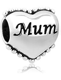 """Los mejores dijes para mamá a la venta. Dije de corazón y leyenda """"I Love You"""" para collar o brazalete de regalo."""