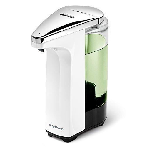 simplehuman Compact Sensor Pump with Soap Sample, 237 ml - White