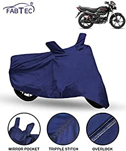 Fabtec Bike/Motorcycle Body Cover for Hero Passion Plus (Blue)