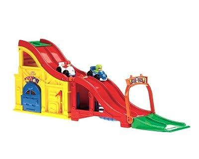 Mattel Little People T5429 - Rampa de carreras con sonido y 2 coches (Mattel) de Little People