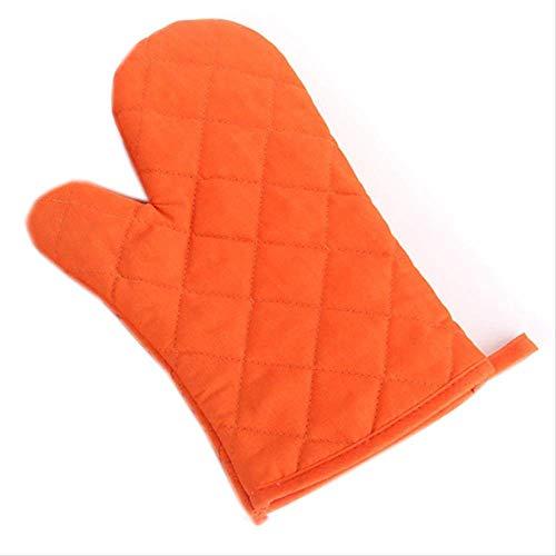MYQG Ofen Handschuh Heiße Isolierung Dicke Professionelle Mikrowelle Ofen Handschuhe Ofen Mitts Hochtemperatur Küchenbedarf Solide Baumwolle orange - Mikrowelle Orange