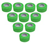 10 Stück Kohäsive Pflaster 2,5 cm x 4 m Neonfarben selbstklebend Medi-Inn, Fixierbinde, Haftbinden, (neon grün)