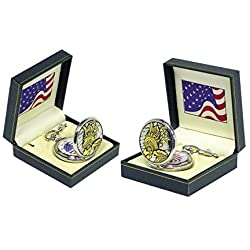 Statue of Liberty Pocket Watch in Round Gift Box America Statue Of Liberty Clock