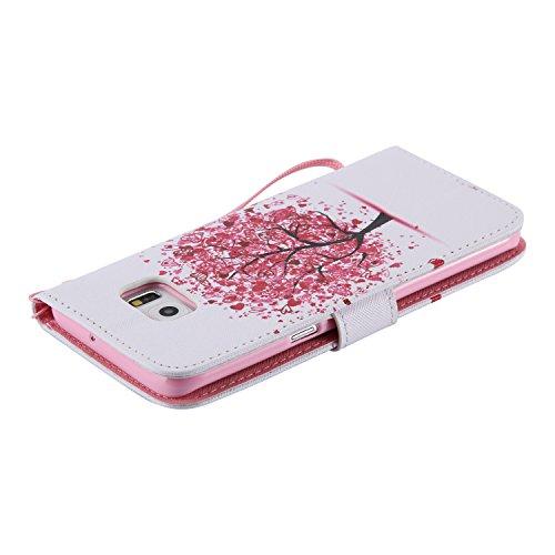 Etui Coque PU Slim Bumper pour Samsung Galaxy S6 Edge Plus (5,7 pouces) Souple Housse de Protection Flexible Soft Case Cas Couverture Anti Choc Mince Légère Silicone Cover Bouchon -photo Frame Keychai 1