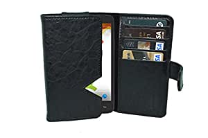 TOTTA PU Leather Wallet Pouch with Card Holder Xolo Opus 3 (Black)