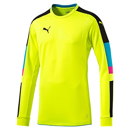 Puma Kinder Torwarttrikot Tournament 702194 Safety Yellow-Atomic Blue 164
