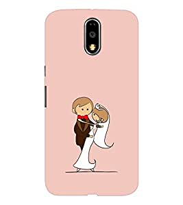 EPICCASE Newly married Mobile Back Case Cover For Moto G4 / G4 Plus (Designer Case)