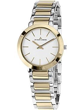 Jacques Lemans Damen-Armbanduhr Milano Analog Quarz Edelstahl 1-1842D