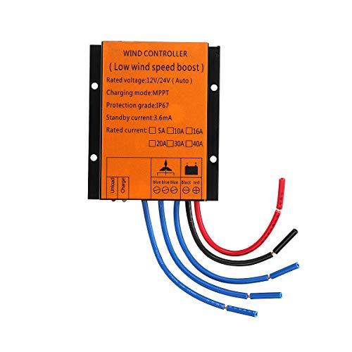 ExcLent 300/400/500 / 600W 12 / 24V Contrôleur Automatique De Turbine De Vent Mppt Protection De Vitesse De Surtension De Contrôleur De Générateur Imperméable - 500w