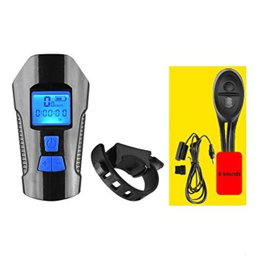 W.zz Fahrrad Scheinwerfer USB wiederaufladbare 350 Lumen Fahrrad Frontleuchte Fahrrad Smart Code Tabelle, Reiten Taschenlampe Blendung, Nachtfahrten Fahrradscheinwerfer,C