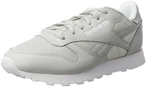 Reebok Damen Classic Leather Fbt Sneaker, Weiß (Skull Grey/White/Silver Metallic), 38 EU (Leder Athleisure)
