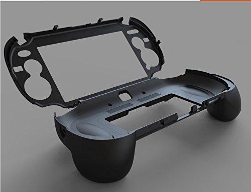 Matt Hand Grip Griff Joypad Ständer Hülle mit L2R2Trigger Griffe Händel Halter Taste für PS Vita PSV 1000(Schwarz) (Halter Taste)