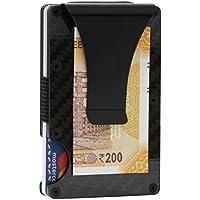 FANTOM WALLET INDIA Minimalist Carbon Fiber RFID Blocking Wallet (Black)