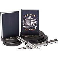 Art Shipper® Trainingstagebuch, Notizbuch für Fitness/Bodybuilding/Krafttraining | stabiles Hardcover, DIN A5 | mit Motivationssprüchen | verschiedene Designs