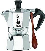 Bialetti 1161 Moka Express, Caffettiera italiana in alluminio 1 Cup w/Spoon argento