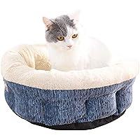 QJKai Invierno mascotas nido cilindro gato arena basura mascotas suministros moda cama de gato