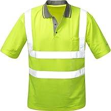 leuchtgelb Coolpass-Poloshirt Warnschutz
