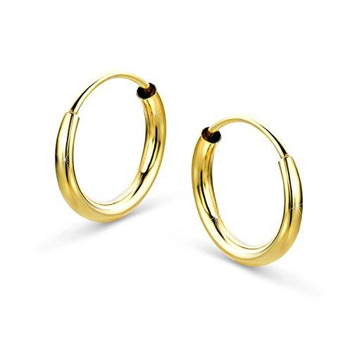 Orovi Damen Gold -Creolen Ohrringe GelbGold Ohrringe 8 Karat (333) Ohr-Schmuck