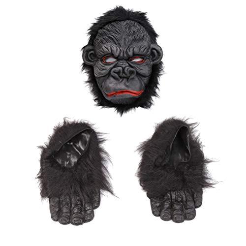 Amosfun Halloween Gorilla Maske Kostüm Maske Halloween Party Dekoration