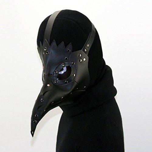 P Prettyia Plague Doctor Kostüm Schnabelmaske Pest-Maske Krähe Form Steampunk - Krähe Kostüm Maske