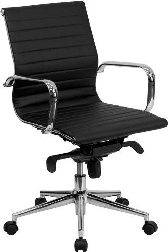 flash-furniture-mid-ruckseite-schwarzer-gepolsterter-konferenz-drehsessel-gerippt